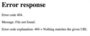 Error_response